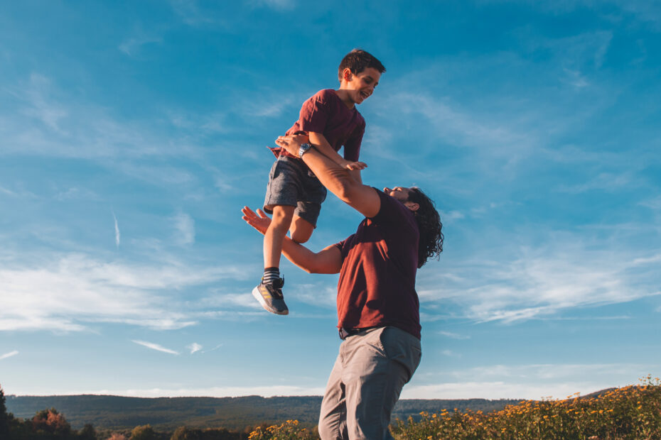 Papa mit Sohn