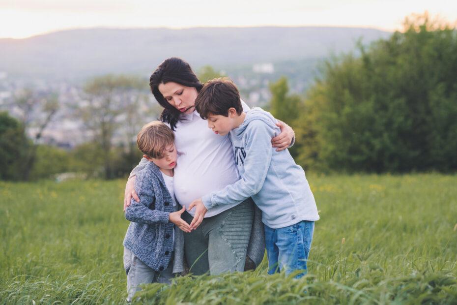 Mama mit Kindern